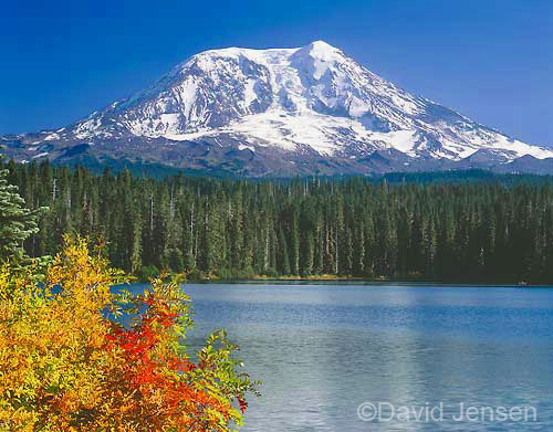 Mt. Adams from Taklakh Lake. Return to Mountains Page